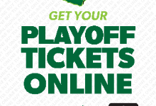 Playoff Game Tickets Must Be Purchased Online!