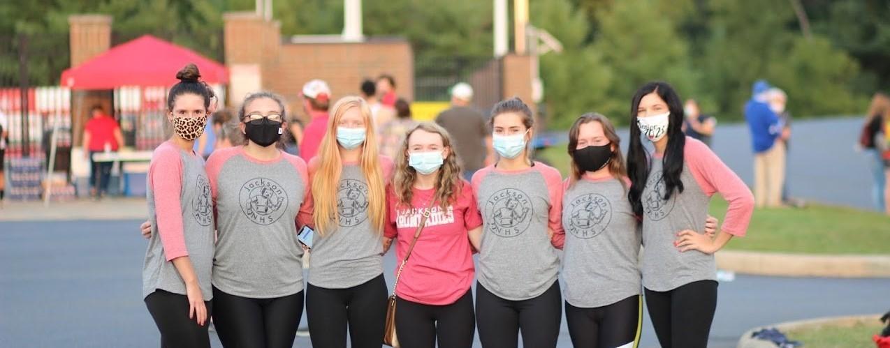 JHS honor society members at a football game