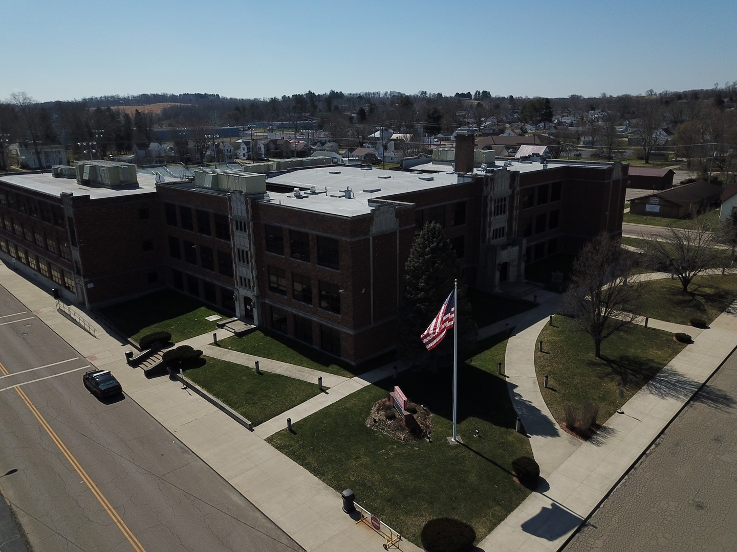 View of the Jackson Middle School building