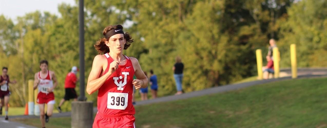 Cross country athlete running